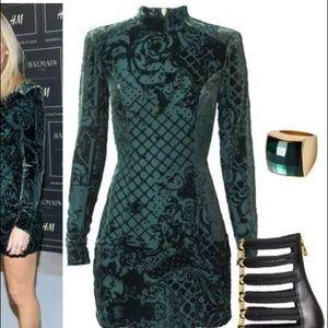 Balmain x HM Velvet Dress